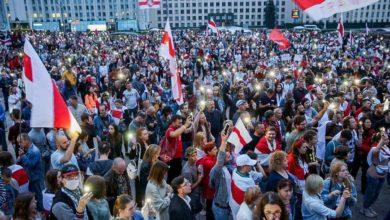 Photo of На площади Независимости в Минске снова собрались тысячи протестующих