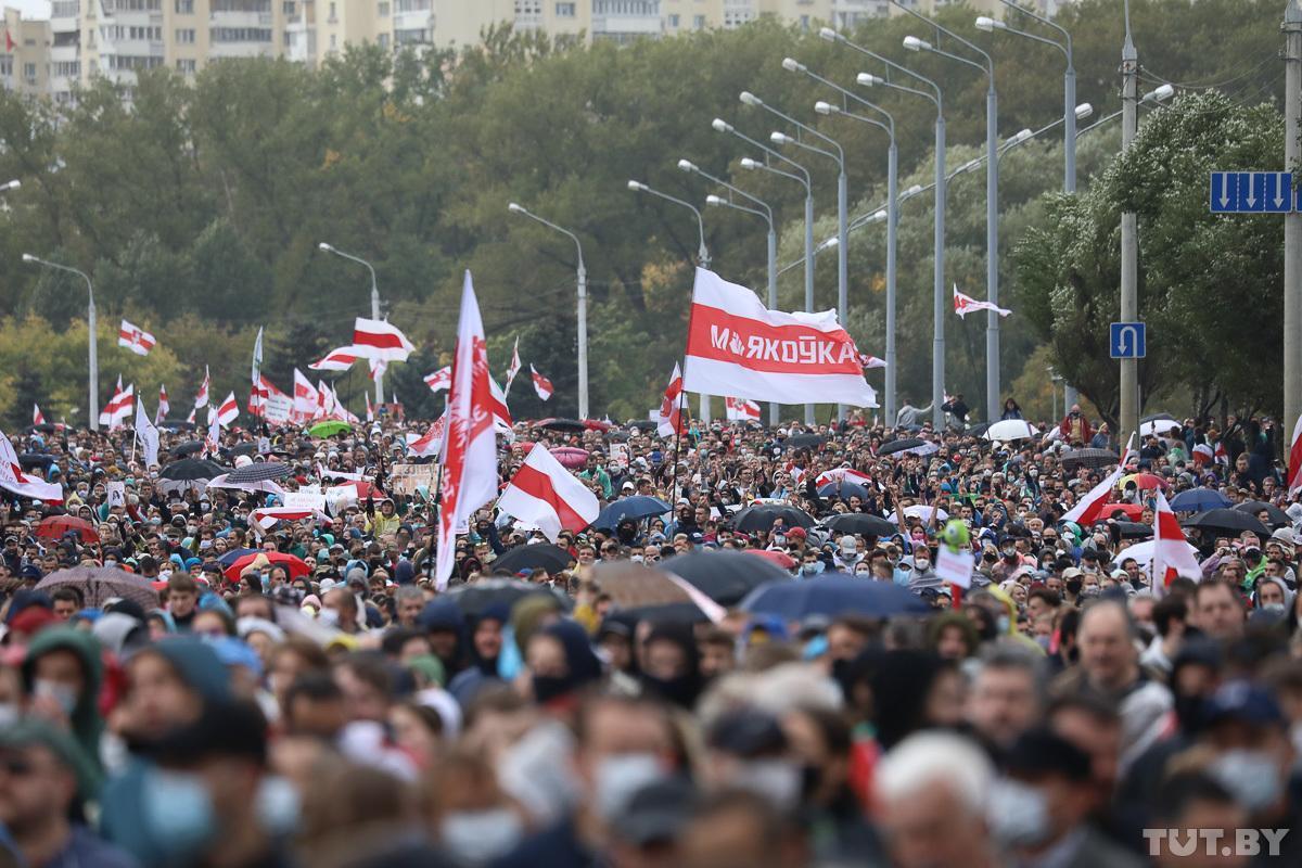 Фотофакт: в Беларуси прошла очередная акция против результатов президентских выборов