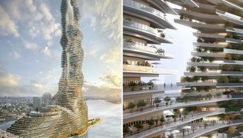 Самый большой «очиститель воздуха» в мире. Вот проект «Мандрагора» – здание, поглощающее CO2 (10 фото)