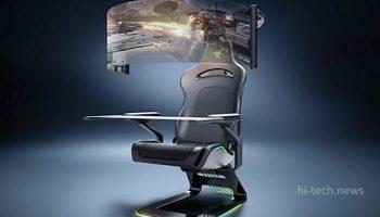 Игровое кресло с 60-дюймовым OLED-дисплеем и встроенной столешницей от Razer