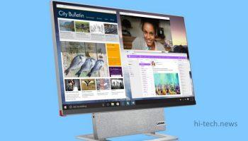 Lenovo Yoga AIO 7 представлен. Новый компьютер с вращающимся экраном