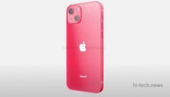iPhone 13 Product Red появился на рендерах (видео)