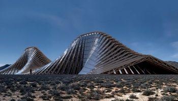 В пустыне Невады может появиться солнечная гора (10 фото)