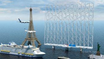 Норвежцы представили Windcatcher. Это плавающая ветряная ферма выше Эйфелевой башни