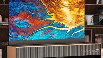 Первый в мире телевизор-рулон с лазерным экраном